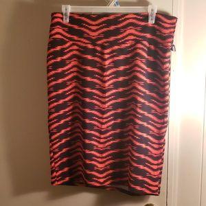 Red and black lularoe Cassie skirt
